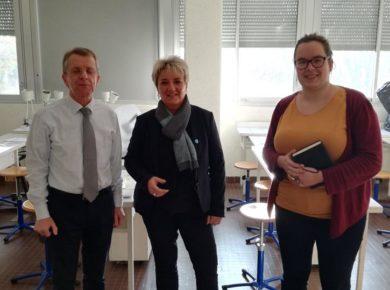 Isabelle Ittelet Visite des collèges de l'Aisne 2018