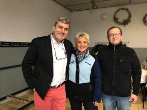 Isabelle, Mr le Maire et l'adjoint