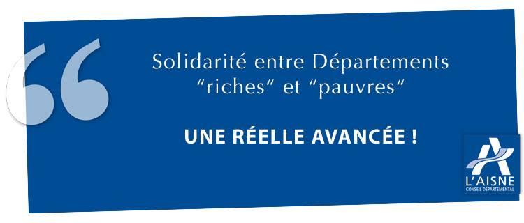 Solidarité entre Départements « riches » et « pauvres »