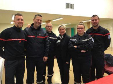 Les sapeurs pompiers de Vervins pour soutenir le TELETHON