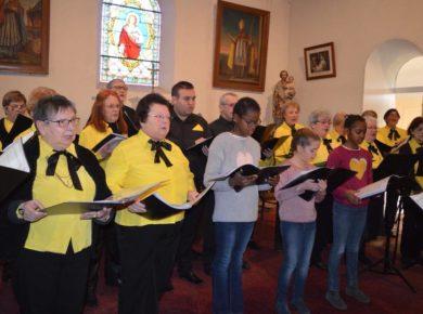 Concert « Balade en Hiver » donné par l'Ensemble Vocal Cantare au profit de l'UNICEF en l'église de Voharies !