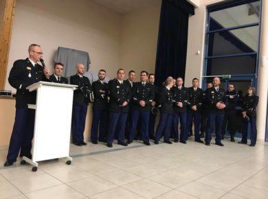 Vœux de la Communauté de brigades de Laon, Marle, Crécy-sur-Serre à Couvron-et-Aumencourt.