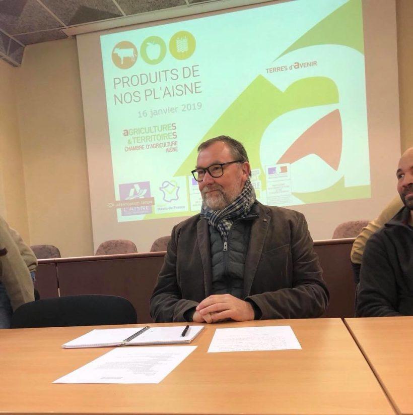 Présentation des producteurs et maraîchers qui approvisionnent la plateforme « Produits de nos PL' Aisne » à la Chambre d'Agriculture de l'Aisne.