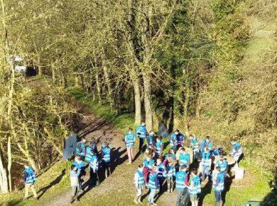 Les Hauts-de-France propre 2019 avec les lycéens du Lycée Agricole de Thiérache autour de l'étang de Fontaine Les Vervins.