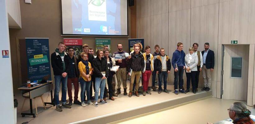 remise des prix du concours de reconnaissance des végétaux pour la région Hauts de France