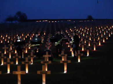 Honorer la mémoire des soldats tombés sur le front du Chemin des Dames lors de l'offensive Nivelle