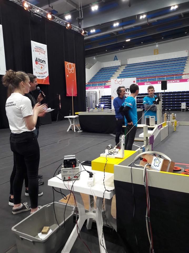 La finale nationale de robotique à Saint Quentin