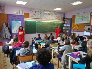 Brigades d'Interventions Poétiques à l'école primaire de Marle