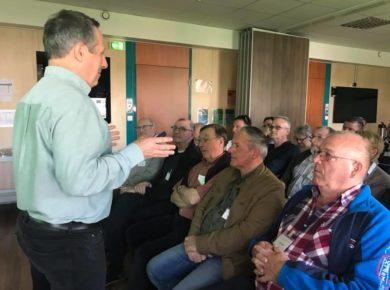 visite de la société BAYER à Marle avec les maires du Canton de Marle