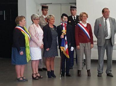 Cérémonie de remise du Drapeau Français à Mohann CAHEREC, élève de 5ème au collège FROEHLICHER de Sissonne.