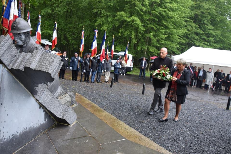Cérémonie du 79e anniversaire des combats de mai 1940 à Saint-Michel