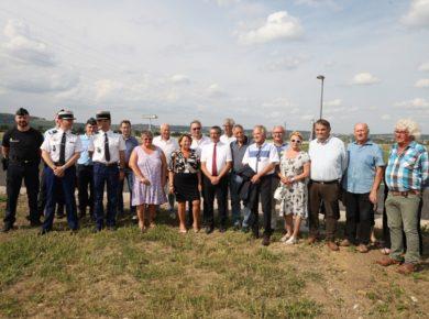 Le carrefour desservant la nouvelle gendarmerie implantée à Nogentel a été inauguré