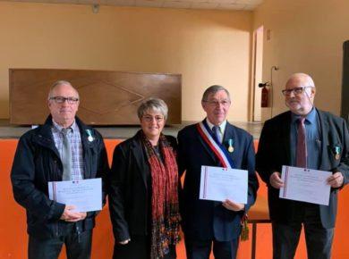Remise des médailles Régionales, Départementales et Communales à Voulpaix
