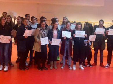 Cérémonie républicaine de remise des diplômes, DNB au Collège Jacques Prévert à Marle.