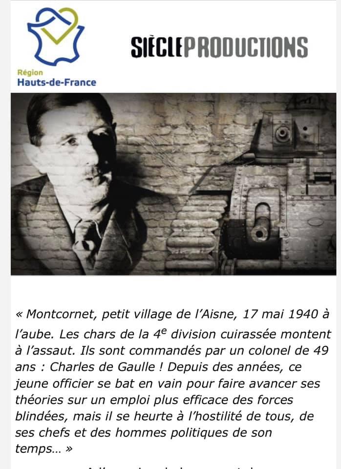 Diffusion du documentaire sur les batailles de Montcornet, Crécy sur Serre