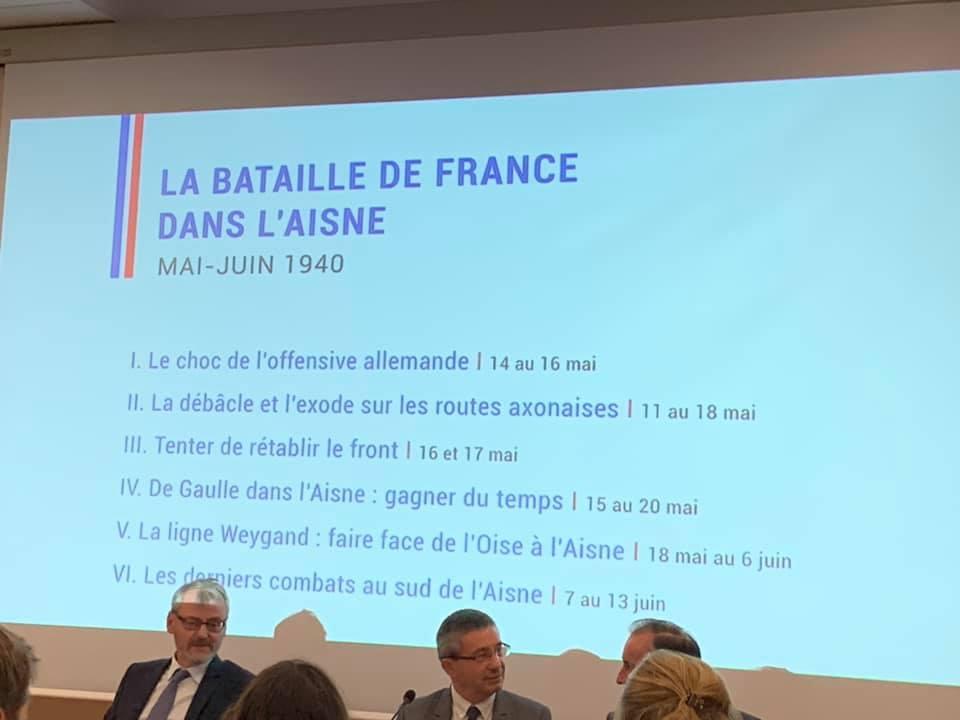 Lancement de l'appel à projet 2020 « LA BATAILLE DE DE FRANCE DANS L'AISNE EN 1940 et L'APPEL DU GÉNÉRAL DE GAULLE DU 18 JUIN 1940 A POURSUIVRE LES COMBATS »