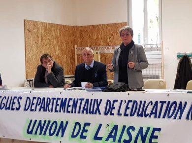 Assemblée Générale du DDEN de l'Aisne à Athies-sous-Laon.