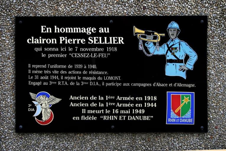 Commémoration à la Pierre d'Haudroy