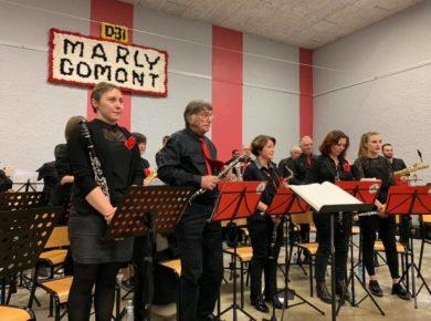 🎶 Remarquable Concert Annuel de l'Harmonie Municipale de Marly-Gomont en compagnie de l'Orchestre d'Harmonie d'Hirson.🎷🎺🎼
