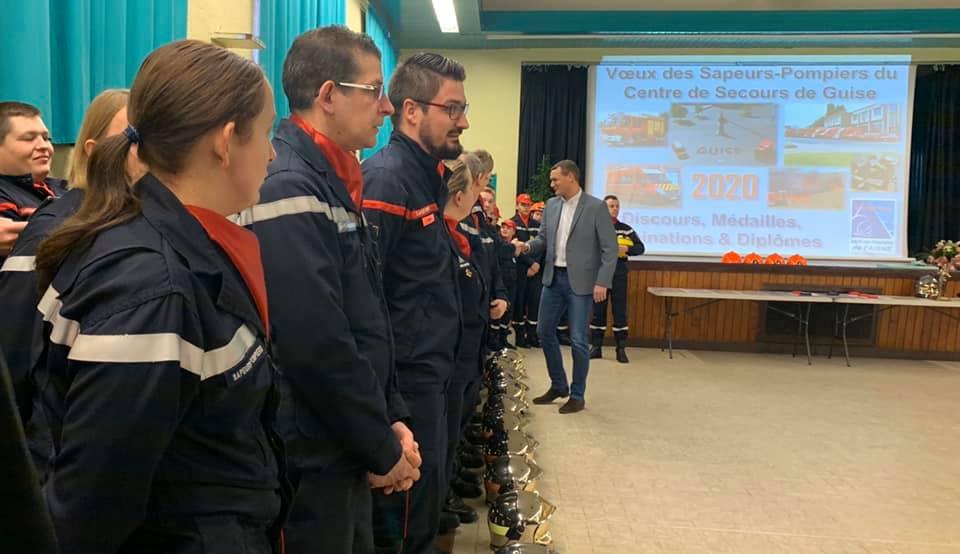 Cérémonie de Vœux des Sapeurs-pompiers du Centre de Secours de la Ville de Guise