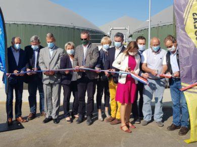Une unité de méthanisation AGRI-AISNERGIE inaugurée à la Neuville-Saint-Amand !
