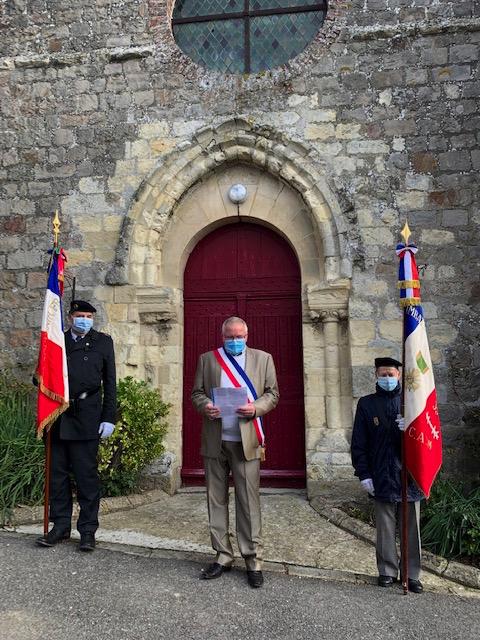 Cérémonie en hommage au caporal Robert Renaux à Dercy