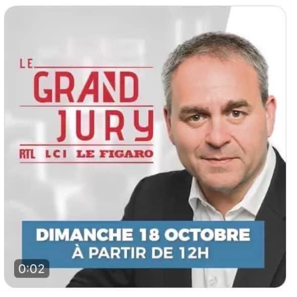 Le Grand Jury Avec Xavier Bertrand