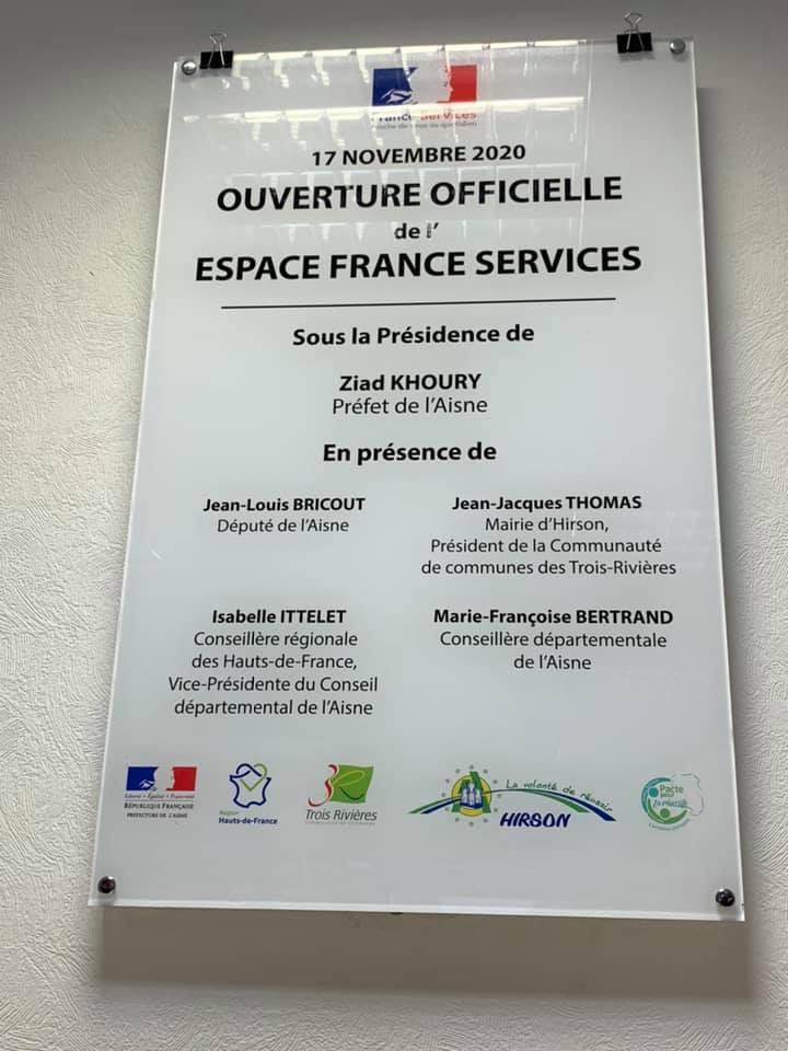Inauguration de la Maison France Services à Hirson