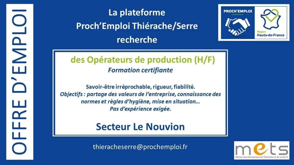 Offres d'emploi en Thiérache !